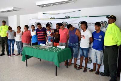 Capturadas 11 personas de la banda 'Los Peteros' en Atlántico