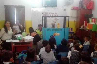 Policía Nacional visita colegios en campaña  de prevención