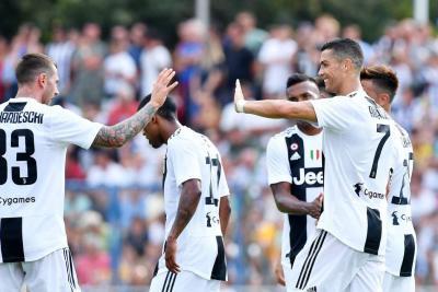 Cristiano Ronaldo debutó con la Juventus y marca su primer gol