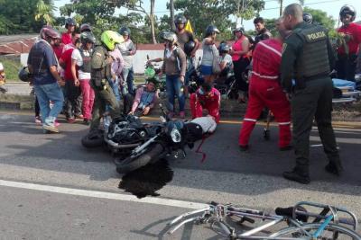Adulto mayor murió tras fuerte accidente de tránsito cerca al sector Bonanza