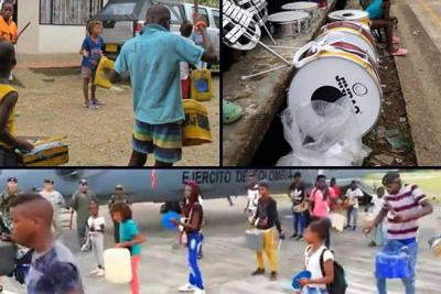 Niños de banda de tarros y palos que fueron a Bogotá no serían los mismos del video viral