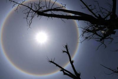 Halo Solar brilló este miércoles en el cielo de San Gil