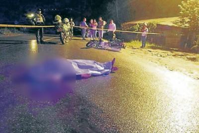 Transportador murió al ser atropellado por una moto