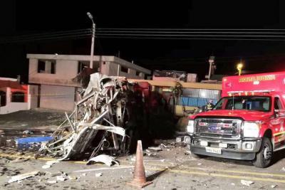 Bus accidentado en Ecuador presenta evidencias de cocaína