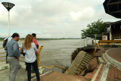 Colapso de tablestaca obligó  a cerrar Terminal Fluvial Yuma
