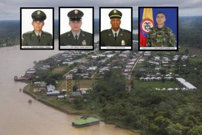 Los uniformados secuestrados son Wilber Rentería, policía de Chocó; el subintendente Luis Torres Montoya, el soldado Jesús Alberto Ramírez y el patrullero Yemilson Gómez.