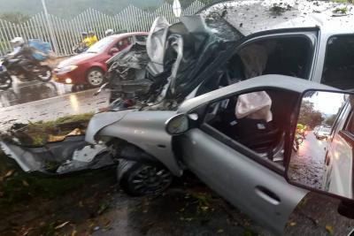 Grave accidente de tránsito en la vía a Piedecuesta dejó un herido