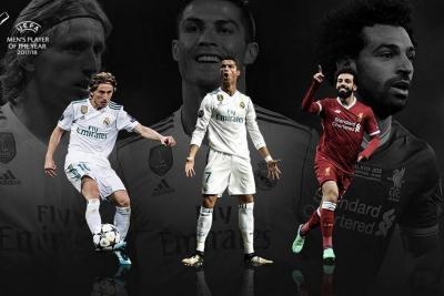 Modric, Ronaldo y Salah, los candidatos a Jugador del Año