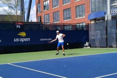 Santandereano Daniel Galán debutó con triunfo en el US Open