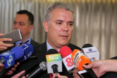 """Iván Duque dice que """"el gran reto de Colombia es evitar que prospere el crimen"""""""