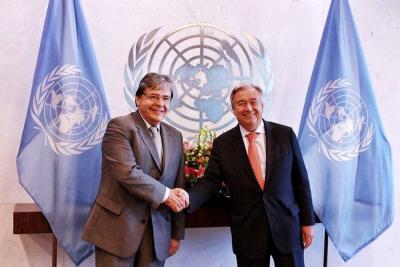 Así fue la primera reunión entre Holmes Trujillo y el secretario general de la ONU