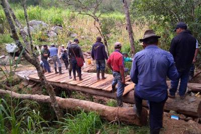 Recursividad comunitaria para obra rural en Onzaga