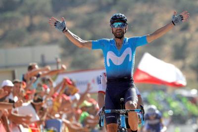 Alejandro Valverde ganó la segunda etapa de la Vuelta a España