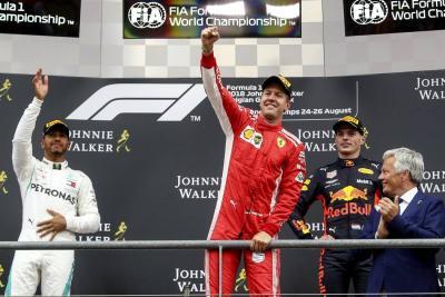 Vettel se impuso en un accidentado Gran Premio de Bélgica