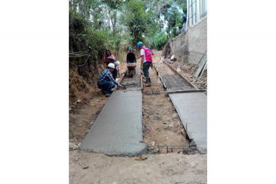 Iniciaron obras en el sector El Rebentón