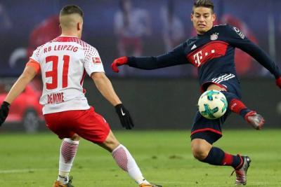 James Rodríguez jugó 13 minutos en la goleada del Bayern Múnich al Stuttgart