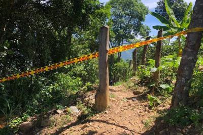 En esta zona boscosa del barrio La Independecia, norte de Bucaramanga, se registró el asesinato de Jose Ferney Vargas.