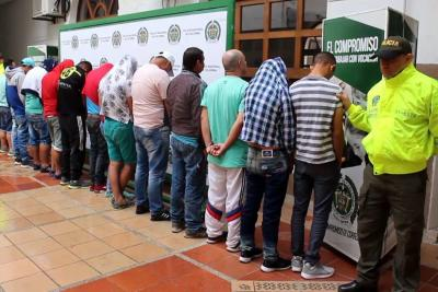 Enviados a la cárcel 14 miembros de banda 'La Séptima' en Bucaramanga