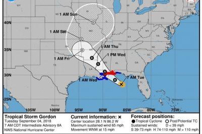 Tormenta Gordon se fortalece en EEUU y tocaría tierra en Florida como huracán