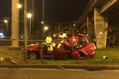 Grave accidente en Bogotá dejó a tres jóvenes muertos