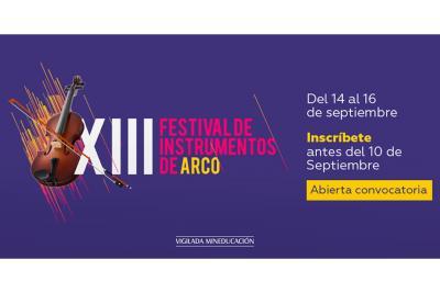 Abiertas las inscripciones para participar en el Festival de Instrumentos de Arcos
