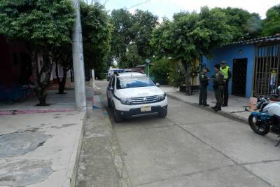 En esta cuadra del barrio Villarelys ocurrió el atentado a bala contra Jhon Edison Cristo Morales, tras un aparente caso de intolerancia suscitado en medio de una rumba.