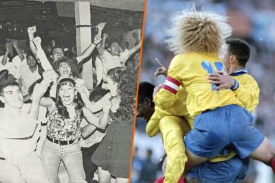 Así celebró Bucaramanga el 5-0 de Colombia a Argentina hace 25 años