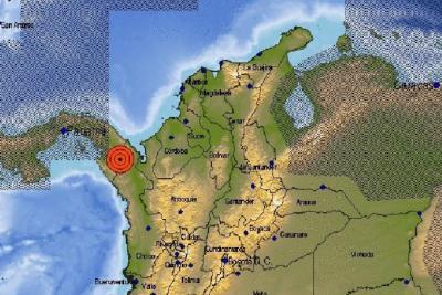 Fuerte temblor se registró en la frontera entre Colombia y Panamá