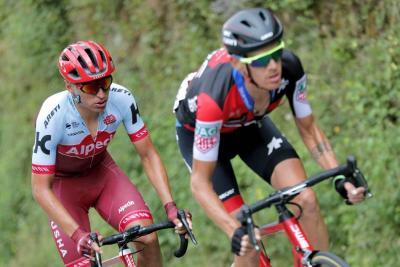 El corredor colombiano Jonathan Restrepo, del equipo Katusha-Alpecin, acabó segundo durante la undécima etapa de la Vuelta a España en la que se impuso el italiano del equipo BMC Alessandro de Marchi.