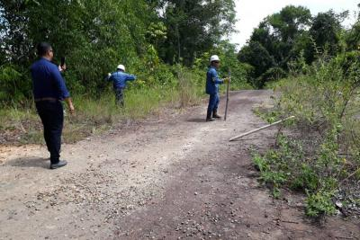 Este miércoles funcionarios de Ecopetrol intentaban entrar, junto a autoridades de San Vicente de Chucurí, en el predio Las Margaritas.