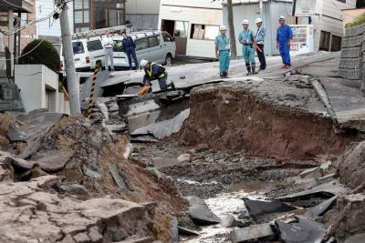 Ocho muertos y más de 30 desaparecidos por terremoto en Japón