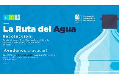 La UNAB recoge agua para la Alta Guajira