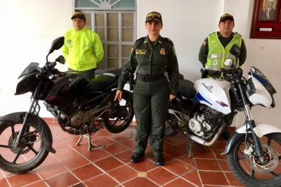 Policía recupera dos motos que habían sido hurtadas