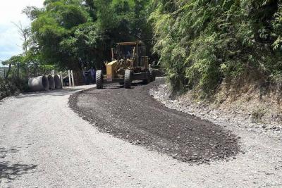 Vía Oiba-Guadalupe avanza a paso rápido