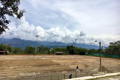 Avanzan las obras del barrio El Diamante y del estadio municipal