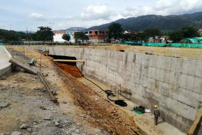 Avanzan las obras de canalización de ríos en Girón