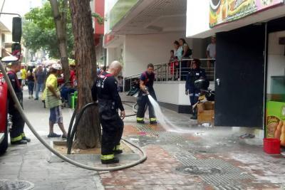 Incendio en el Centro de Bucaramanga dejó pérdidas por $60 millones
