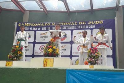 Santander logró cinco medallas en el Nacional de Judo en Bogotá