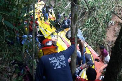 Accidente de bus en Ecuador deja nueve muertos y más de 20 heridos