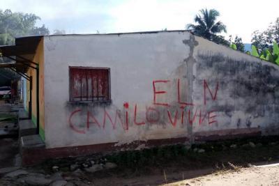 Menores señalados de pintar grafitis alusivos al Eln causaron pánico en Santander