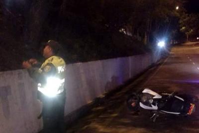 Motociclista murió tras chocar contra un poste en Bucaramanga