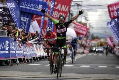 Carlos Quintero fue el más rápido en la llegada a Funza
