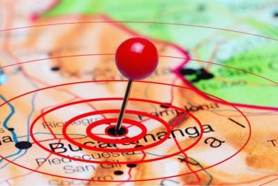 Fuerte sismo se sintió este martes en Bucaramanga y el área
