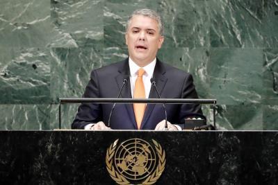 """""""El mundo debe unirse para que este éxodo trágico de Venezuela llegue a su fin"""": Duque"""