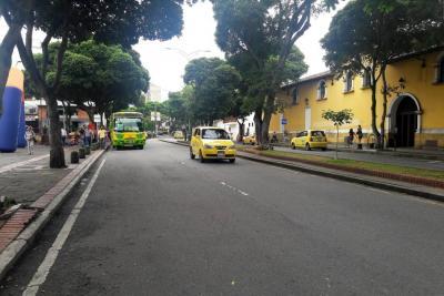 Así fue la jornada de restricción vehicular en el centro de Bucaramanga