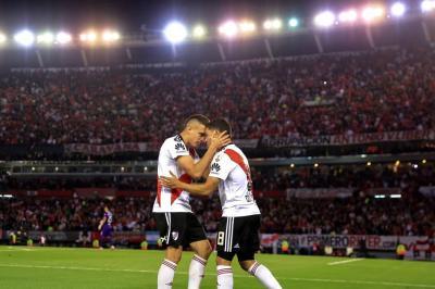 Los goles de Borré y Quintero que llevaron a River a semifinales de la Libertadores