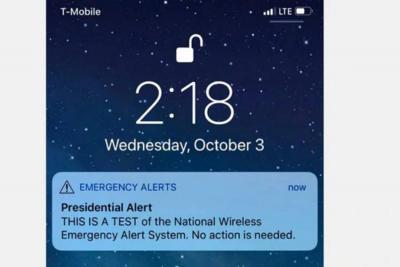 """""""Alerta presidencial"""": Trump envió un mensaje a todos los celulares de EE.UU como prueba para emergencias"""