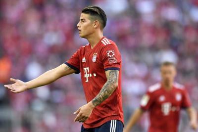 James 'estalló'  en el vestuario del Bayern