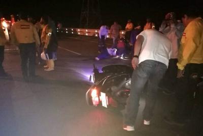 Murió motociclista tras caer en un hueco cerca a Santander