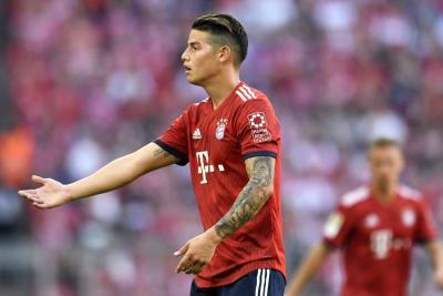 Descontento de James con  rotaciones en el Bayern